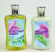 Bath And Body Coconut Water Shower Gel 10 Fl Oz And Body Lotion Signature Collection