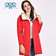 2020 Spring Autum Womenand039s Parka Coat Thin Women Jackets Long Plus Size Hooded