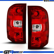 For 07-14 Chevy Silverado Pickup Red Clear Factory Replacement Brake Tail Lights