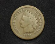 Hsandc 1876 Indian Head Penny/cent G - Us Coin