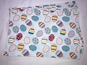 Easter Eggs Silver Glitter Blue Purple White Pink Yellow Set Of 4 Placemats