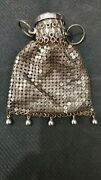 Whiting And Davis Silver Mesh Beggers Bag / Gate Top Purse 1920s/1930s Deco
