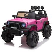 12v Kids Ride On Truck Battery Powered Electric Led Toys Car W/remote Control Us