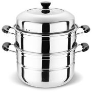 New 3 Tier 304 Stainless Steel Food Steamer Kitchen Cookware Sets