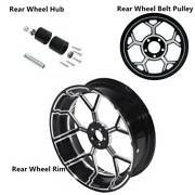 18 X 5.5and039and039 Rear Wheel Rim And Hub And Belt Pulley Sprocket Fit For Harley Touring