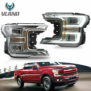 Sequoia Led Headlight Chrome Housing For Ford F150 2018 2019 2020 Running Light
