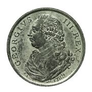 Middlesex George Iii Penny Size Medal 1789 Dandh 182 Bis In White Metal Rrr