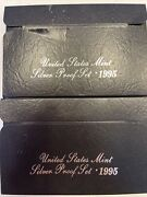 Set Of Two United States Mint Silver Proof Sets 1995 As