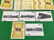 Old Vintage Non Standard Blue Train Wide Playing Cards Railway Steam Engine