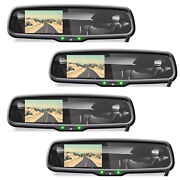Pyle Plcm4590wir Adjustable Rearview Backup Camera And 4.3 Inch Monitor 4 Pack