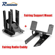 Front Fairing Support Mount Brackets And Radio Caddy For 98-13 Harley Road Glide