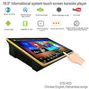 6tb Hdd 19.5'' Karaoke Player,chinese,english,vietnamese Songs,mic With Mixer