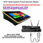 Karaoke Player 6tb Hdd 19.5'' Screen,chinese,english,vietnamese Songs,android