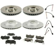 Oem Front And Rear Disc Brake Rotors Pads And Sensors Kit For Porsche Cayenne 05-06