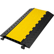 5-channel Cable Protector Ramp Rubber Speed Bumps Driveway 22000-33000lbs