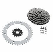 Cz Atv X Ring Chain And Silver Sprocket 14/41 100l Fits 1993-96 Yamaha 350 Warrior