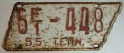 2 Tennessee Tn State Shaped License Plates Tag Washington County 1955 Truck H