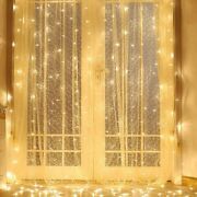 Twinkle Star 300 Led Window Curtain String Light Outdoor Indoor Wall Decorations
