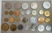 1950-1980 Type Coins Of Mexico - 27 Coin Lot Au/unc