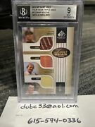 2012 Sp Game Used Tour Gear Triple Gold Tiger Woods Nicklaus Palmer 20/25 Bgs 9