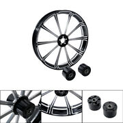 26x3.5 Cnc Front Wheel Rim Dual Disc Fit For Harley Touring Custom Bagger 08-21