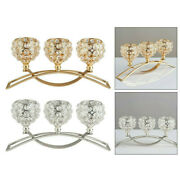 3-arms Crystal Candle Holders Candlestick Candelabra Wedding Table Centerpieces