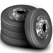 4 New Zenna Dr-850 295/75r22.5 Load G 14 Ply Drive Commercial Tires