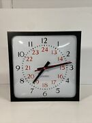 Edwards Electric Wall Clock 1993 Model 2473-1220 No Power Cord For Parts Only