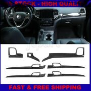 Interior Dashboard Panel And Door Handle Cover Trim For Jeep Grand Cherokee 2011+