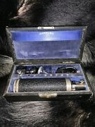 Vintage Medical Wappler Opthalmoscope With Leather Case And Attachments