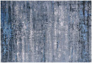 Modern Hand Knotted Wool And Silk Rug 6and039 2 X 9and039 2 - Q7141
