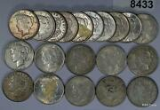 1921 Morgan And Mixed Peace 90 Silver Dollar Roll Vf-au Some Culls 8433