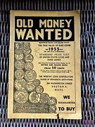 Old Money Wanted 1955 Rare Coin Price List Of Us Coins And Paper Worthy Coin Corp
