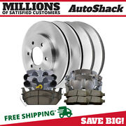 Front And Rear Brake Calipers Semi Metallic Pads Rotors Kit For Ford F-150 5.4l V8