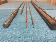 Antique M C Rod Company Amherst Mass 12andrsquo Split Bamboo Fly Fishing Rod Must See