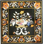 Marble Square Table Top Fruits With Floral Inlaid Console Outdoor Decorate H5671
