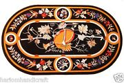 4and039x2and039 Marble Coffee Dining Table Top Rare Marquetry Mosaic Inlay Art Decor H1550