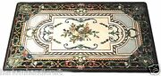 4and039x2and039 Marble Dining Table Top Mosaic Inlaid Gemstone Marquetry Home Decor H1491