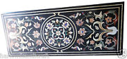 2.5and039x6and039 Black Marble Dining Center Coffee Table Top Rare Inlay Patio Furniture