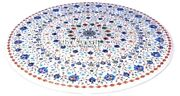 Fine Lapis Lazuli Arts Marble Top Coffee Table Marquetry Inlaid Home Decor H3179