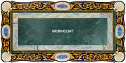 Marble Top Accent Dining Table Inlaid Scagliola Semi Precious Art Decorate H3866