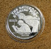 The Critic Norman Rockwell 1988 Le01233 2 Ounce Troy .999 Fine Silver Round