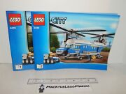 Lego City 4439 Heavy Duty Helicopter Instruction Manuals 1 And 2 Only