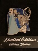 Disney Store Uk Europe Pin Limited Edition Le1000 Frozen Anna Elsa Olaf Sven