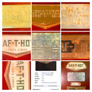 Antique And Vintage Metal Plaques From Water Heaters