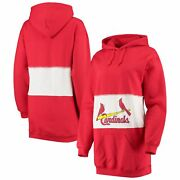St. Louis Cardinals Refried Apparel Womenand039s Hooded Sweatshirt Dress - Red