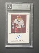 2020 Panini Encased Fotl Chase Young Redskins Bgs 9 10 Auto Sp Rc /15 Ruby Dpoy