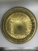 Antique 1883 F.b.rogers Silver Co. Silver On Copper Tray/platter