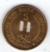 New River Coal Mining Co Scrip 5c Stanaford West Virginia Raleigh Cty Beckley K