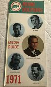1971 Miami Dolphins Media Guide Yearbook Don Shula Bob Griese Warfield Little